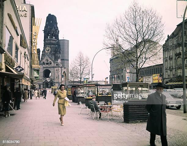 West Berlin, West Germany: Kaiser Wilhelm Memorial Church.