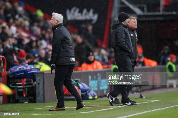 West Brom manager Alan Pardew during the Premier League match between AFC Bournemouth and West Bromwich Albion at Vitality Stadium on March 17 2018...