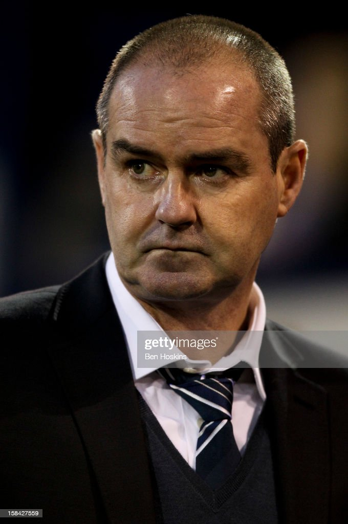 West Brom manager Steve Clarke looks on prior to during the Barclays Premier League match between West Bromwich Albion and West Ham United at the Hawthorns on December 16, 2012 in West Bromwich, England.