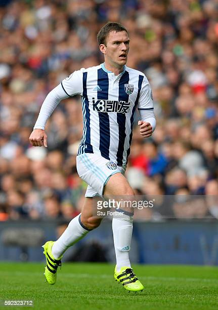West Brom player Craig Gardner in action during the Premier League match between West Bromwich Albion and Everton at The Hawthorns on August 20 2016...