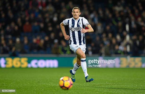 West Brom player Darren Fletcher in action during the Premier League match between West Bromwich Albion and Burnley at The Hawthorns on November 21...