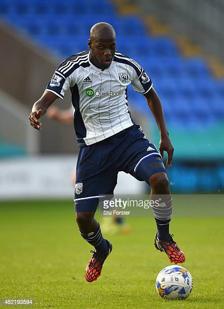 West Brom player Youssouf Mulumbu in action during a pre season friendly between Shrewsbury Town and West Bromwich Albion at Greenhous Meadow on July...