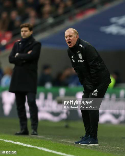 West Bromwich Albion caretaker manager Gary Megson during the Premier League match between Tottenham Hotspur and West Bromwich Albion at Wembley...