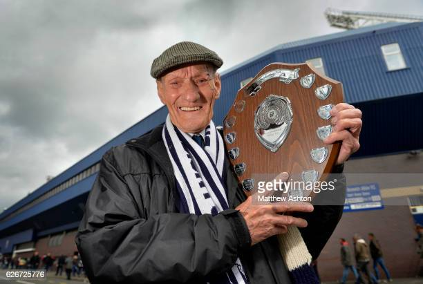 West Bromwich Albion Fan Les James with the Jeff Astle Trophy for services to supporting WBA Fc