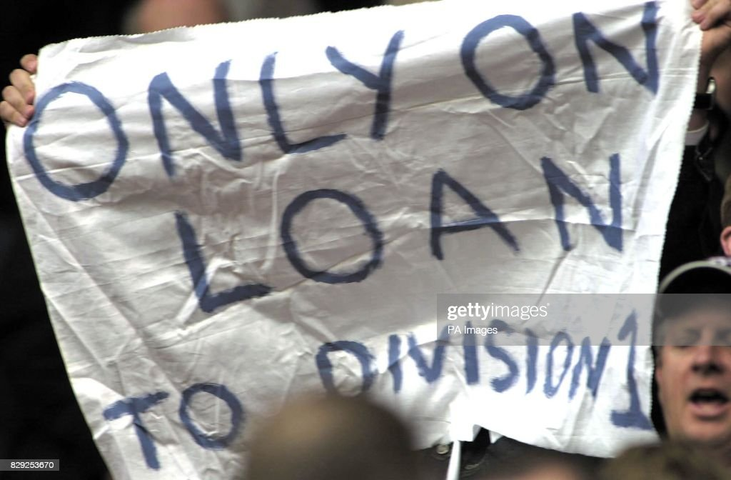 A West Bromwich Albion fan makes a statement after his side won 2-1 at Sunderland only to find themselves relegated in the Barclaycard Premiership match at the Stadium of Light, Sunderland. THIS