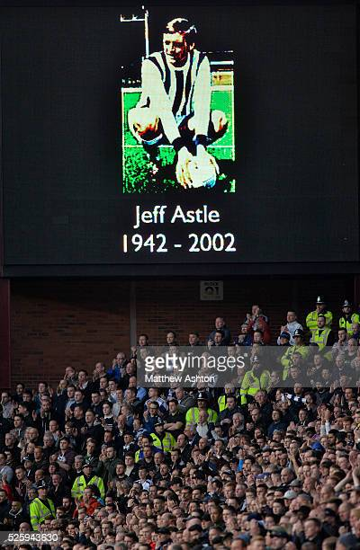 West Bromwich Albion Fans during the minutes applause for the Justice for Jeff Astle campaign on nine minutes