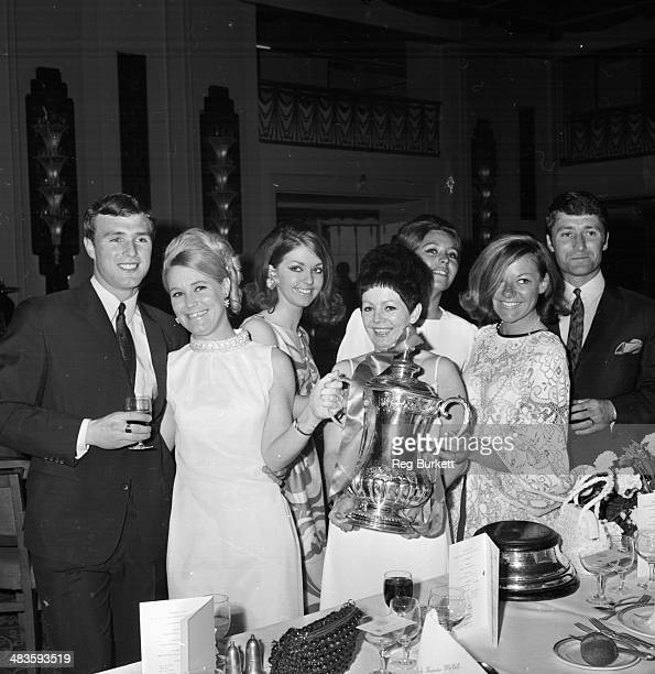 West Bromwich Albion football players and their wives celebrate winning the FA Cup including Graham Williams and Jeff Astle and their wives 18th May...
