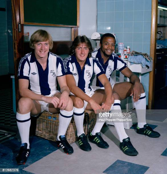 West Bromwich Albion footballers Peter Barnes Gary Owen and Cyrille Regis circa August 1979