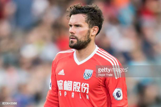 West Bromwich Albion goalkeeper Ben Foster looks on during the Premier League Asia Trophy match between West Brom and Crystal Palace at Hong Kong...