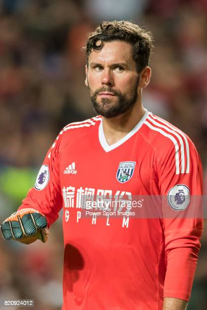 West Bromwich Albion goalkeeper Ben Foster reacts during the Premier League Asia Trophy match between West Bromwich Albion and Crystal Palace at Hong...