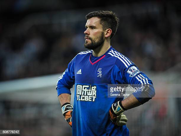 West Bromwich Albion goalkeeper Ben Foster stands with hands on hips during the Barclays Premier League match between Newcastle United and West...