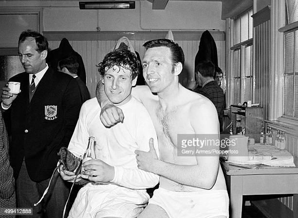 West Bromwich Albion goalscorers Tony Brown and Jeff Astle in the dressing room after their FA Cup SemiFinal victory against local rivals Birmingham...