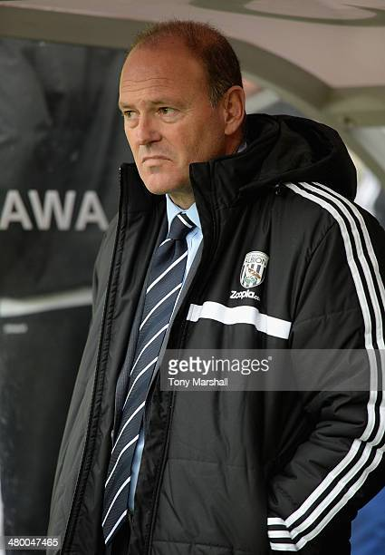 West Bromwich Albion Manager Pepe Mel looks on prior to the Barclays Premier League match between Hull City and West Bromwich Albion at the KC...
