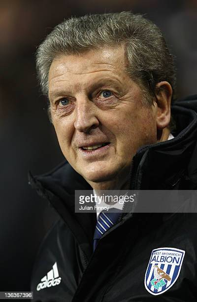 West Bromwich Albion manager Roy Hodgson looks on ahead of the Barclays Premier League match between Tottenham Hotspur and West Bromwich Albion at...