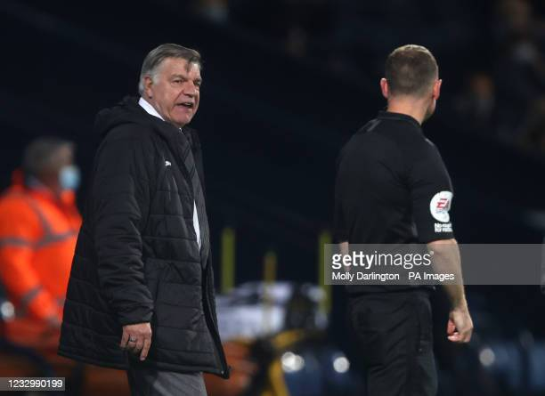 West Bromwich Albion manager Sam Allardyce appeals to an official during the Premier League match at The Hawthorns, West Bromwich. Picture date:...