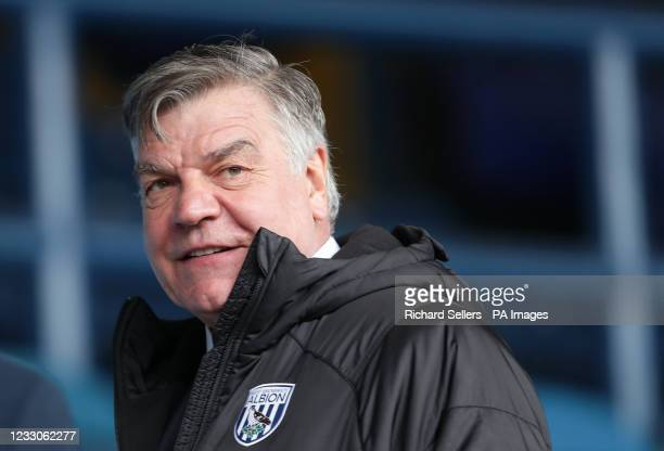 West Bromwich Albion manager Sam Allardyce before the Premier League match at Elland Road, Leeds. Picture date: Sunday May 23, 2021.