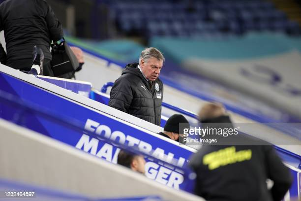 West Bromwich Albion Manager Sam Allardyce during the Premier League match between Leicester City and West Bromwich Albion at The King Power Stadium...