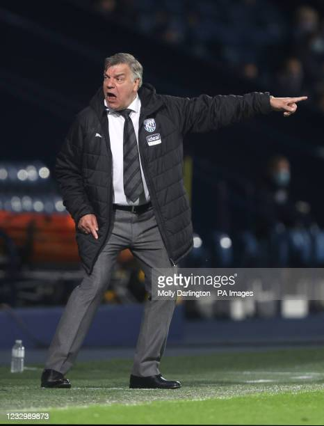West Bromwich Albion manager Sam Allardyce gestures on the touchline during the Premier League match at The Hawthorns, West Bromwich. Picture date:...