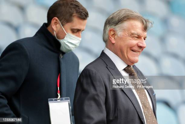 West Bromwich Albion manager Sam Allardyce reacts after the final whistle during the Premier League match at Elland Road, Leeds. Picture date: Sunday...