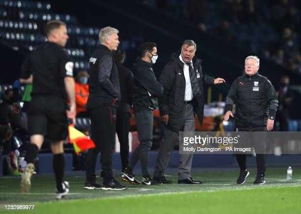 West Bromwich Albion manager Sam Allardyce reacts on the touchline during the Premier League match at The Hawthorns, West Bromwich. Picture date:...