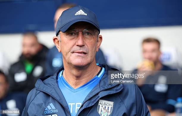 West Bromwich Albion Manager Tony Pulis before the Premier League match between West Bromwich Albion and Everton at The Hawthorns on August 20 2016...