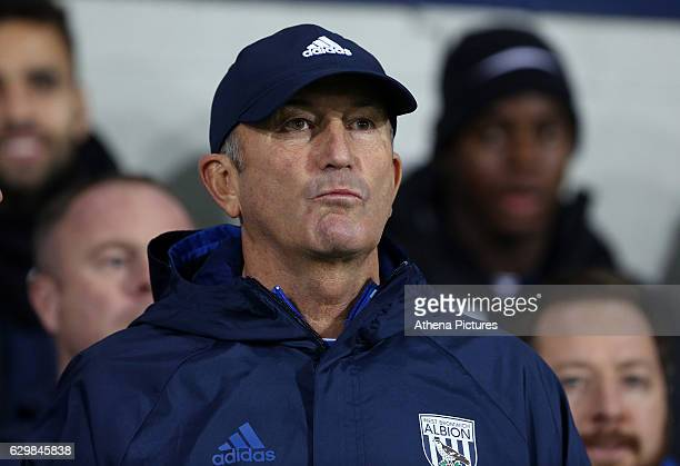 West Bromwich Albion manager Tony Pulis prior to kick off of the Premier League match between West Bromwich Albion and Swansea City at The Hawthorns...