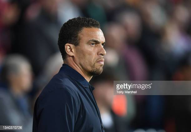 West Bromwich Albion Manager Valerien Ismael during the Sky Bet Championship match between West Bromwich Albion and Derby County at The Hawthorns on...