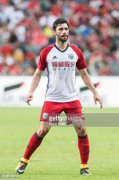 West Bromwich Albion midfielder Claudio Yacob in action during the Premier League Asia Trophy match between Leicester City FC and West Bromwich...