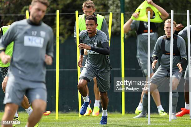 West Bromwich Albion new loan singing Brendan Galloway during his first training session on August 22 2016 in West Bromwich England