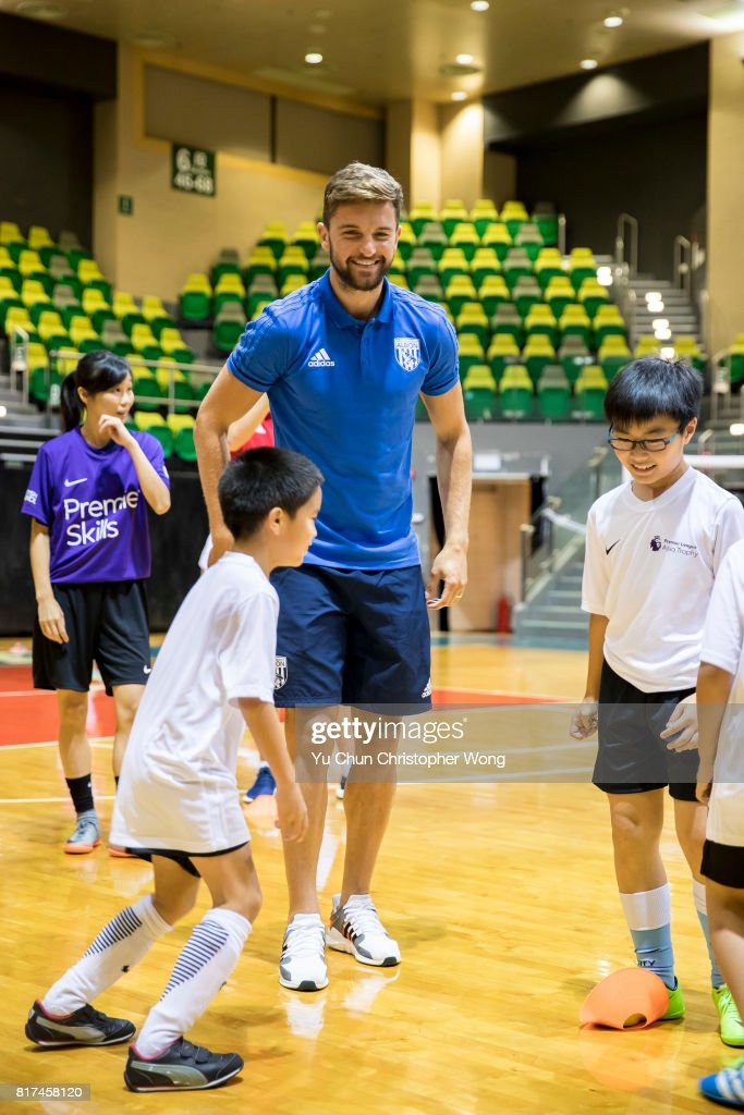 West Bromwich Albion player Jay Rodriguez attends the Premier League Asia Trophy Skills Session at Macpherson Stadium on July 18, 2017 in Hong Kong, Hong Kong.