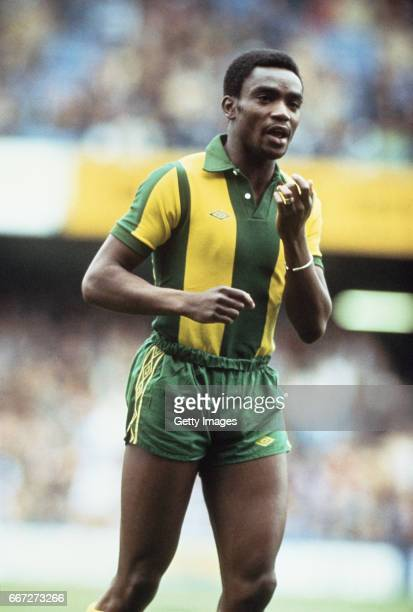 West Bromwich Albion player Laurie Cunningham pictured during an away game circa 1979