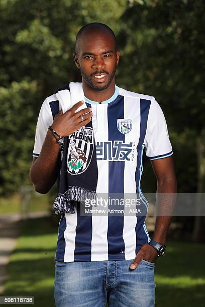 West Bromwich Albion Signing Allan Nyom at West Bromwich Albion Training Ground on August 31 2016 in Walsall England