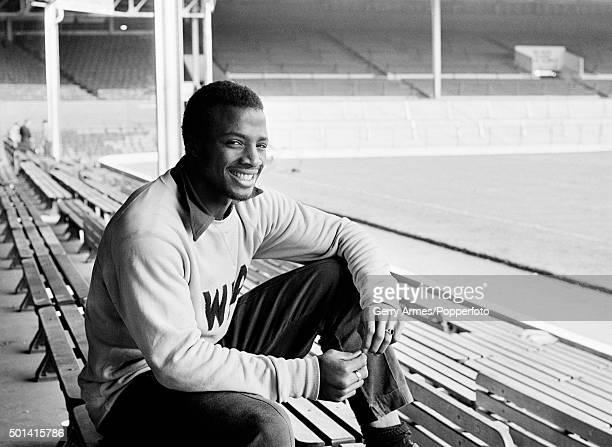 West Bromwich Albion striker Cyrille Regis at the Hawthorns in West Bromwich 12th September 1977