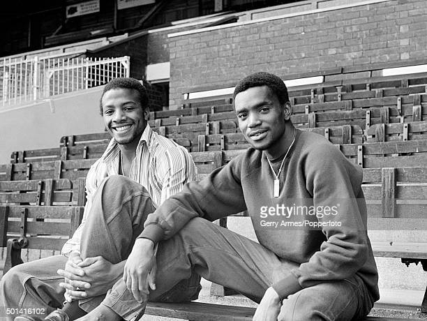 West Bromwich Albion striker Cyrille Regis with Laurie Cunningham at the Hawthorns in West Bromwich 12th September 1977