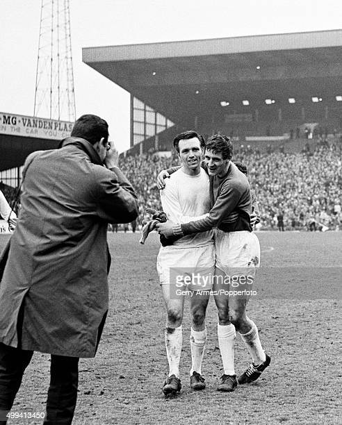 West Bromwich Albion striker Jeff Astle and goalkeeper John Osborne celebrate as Daily Mirror sports photographer Monte Fresco captures the moment...