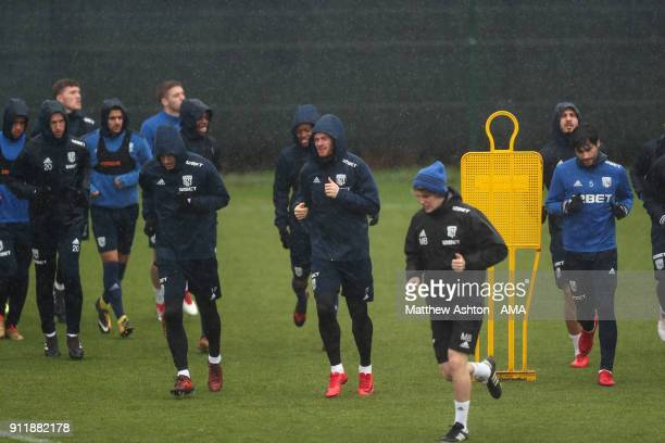 West Bromwich Albion Training during a training session a on January 29 2018 in West Bromwich England