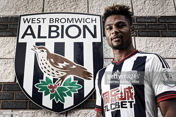 West Bromwich Albion unveil new loan signing Serge Gnabry at West Bromwich Albion Training Ground on August 7 2015 in Walsall England