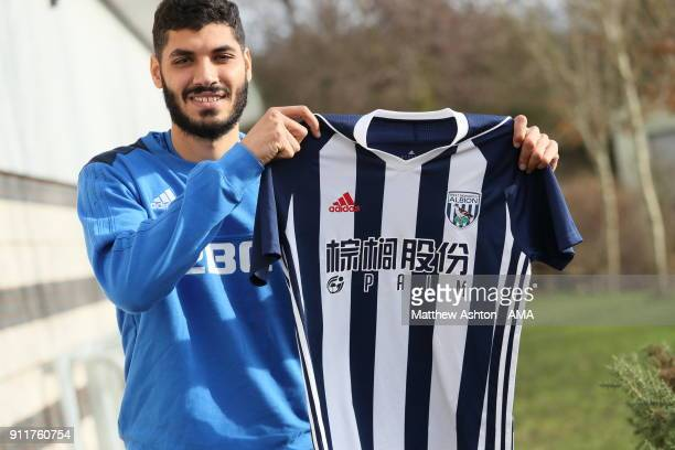 West Bromwich Albion Unveil New Signing Ali Gabr on January 29 2018 in West Bromwich England