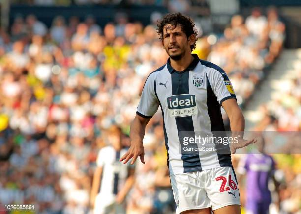 West Bromwich Albion's Ahmed Hegazy in action during the Sky Bet Championship match between West Bromwich Albion and Stoke City at The Hawthorns on...