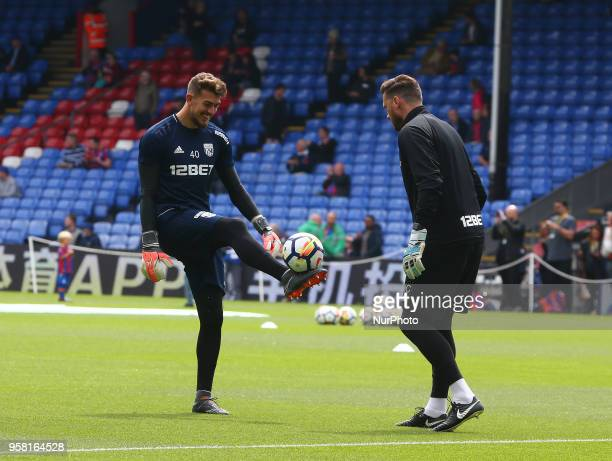 West Bromwich Albion's Alex Palmer during the prematch warmup during the Premiership League match between Crystal Palace and West Bromwich Albion at...