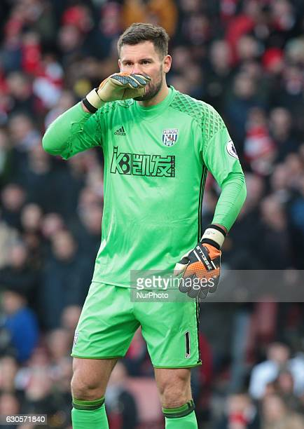 West Bromwich Albion's Ben Foster during the Premier League match between Arsenal and West Bromwich Albion at The Emirates London on 26 Dec 2016