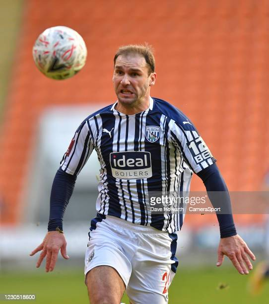 West Bromwich Albion's Branislav Ivanovic during the FA Cup Third Round match between Blackpool and West Bromwich Albion at Bloomfield Road on...