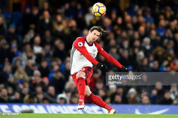 West Bromwich Albion's Grzegorz Krychowiak during the Premier League match between Chelsea and West Bromwich Albion at Stamford Bridge London England...