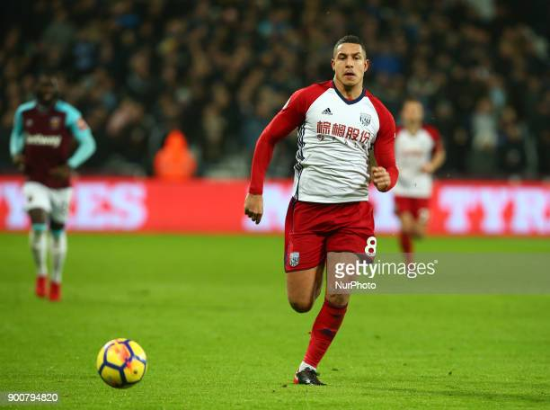 West Bromwich Albion's Jake Livermore during Premier League match between West Ham United against West Bromwich Albion at The London Stadium Queen...