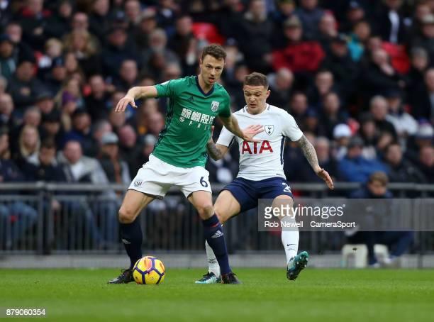 West Bromwich Albion's Jonny Evans and Tottenham Hotspur's Kieran Trippier during the Premier League match between Tottenham Hotspur and West...