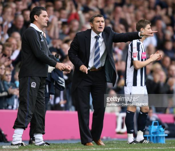 West Bromwich Albion's manager Tony Mowbray and Queens Park Rangers' manager John Gregory