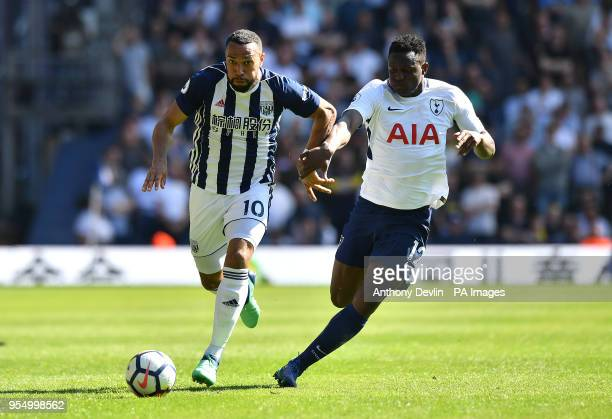 West Bromwich Albion's Matt Phillips and Tottenham Hotspur's Victor Wanyama battle for the ball during the Premier League match at The Hawthorns West...