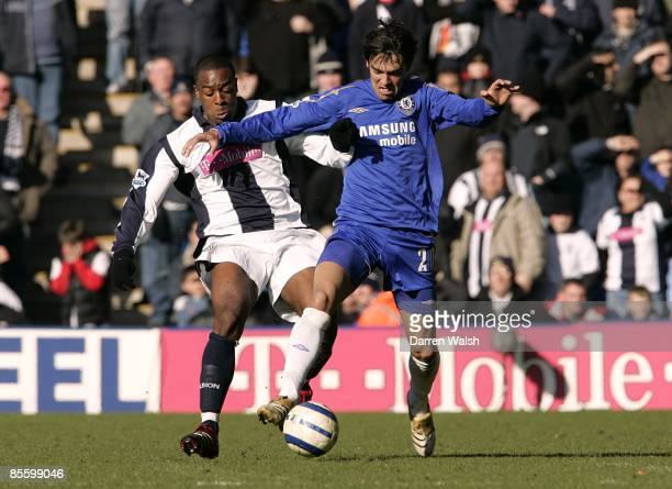 West Bromwich Albion's Nathan Ellington and Chelsea's Paulo Ferreira