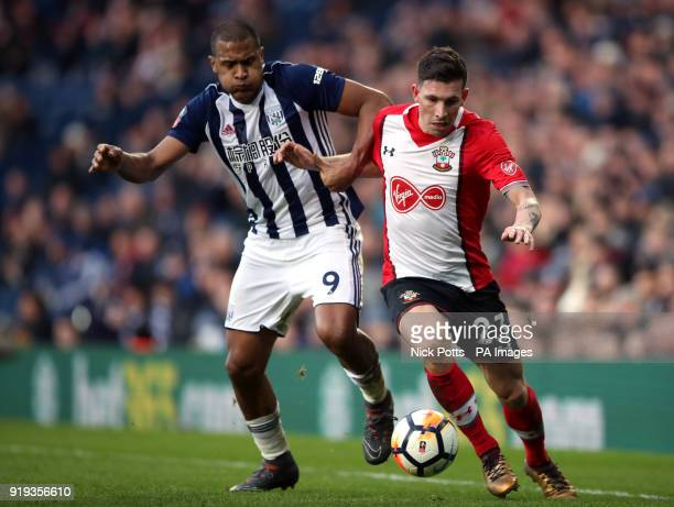 West Bromwich Albion's Salomon Rondon and Southampton's PierreEmile Hojbjerg battle for the ball during the Emirates FA Cup Fifth Round match at The...