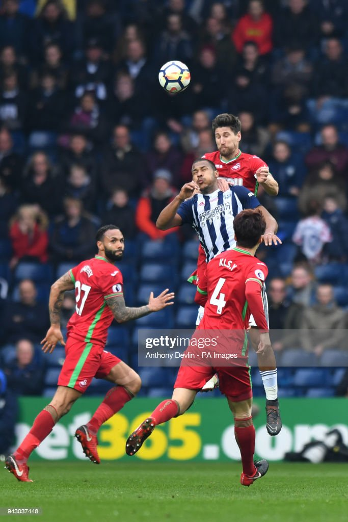 681ad658bae9 West Bromwich Albion v Swansea City - Premier League - The Hawthorns. West  Bromwich Albion s Salomon Rondon ...